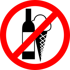 no ice cream or alcohol